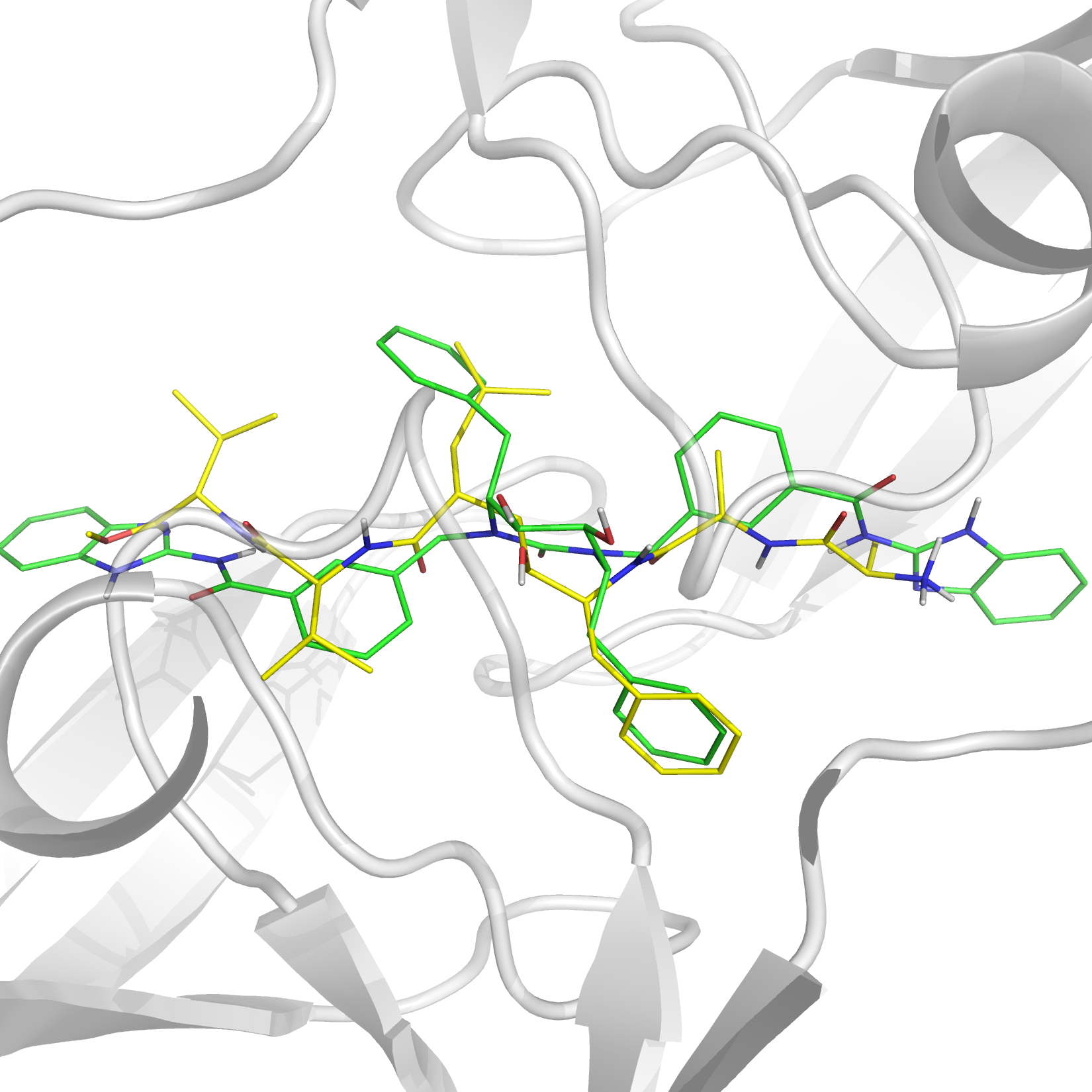 A virtual screening to find novel inhibitors for HIV protease was performed on the ZINC database.1 A critical part in virtual screening and associated techniques is preliminary database filtering and size reduction and for that purpose a novel feature matrix matching procedure was used. The reduction of ∼14 million available ligands to a subset of 14299 ligands was achieved with a structure based approach where the analysis of the 3D structure of the active site of the protease produced a graph with hydrogen bond donor, hydrogen bond acceptor and hydrophobic subsites represented as graph nodes. A similar treatment was also applied to the compound database content and the comparison of binding site and ligand graphs was used to preselect potentially active ligands. The resulting set was further subjected to docking. The algorithm used was able to find several novel as well as previously known and experimentally tested ligands, demonstrating the validity of the approach.